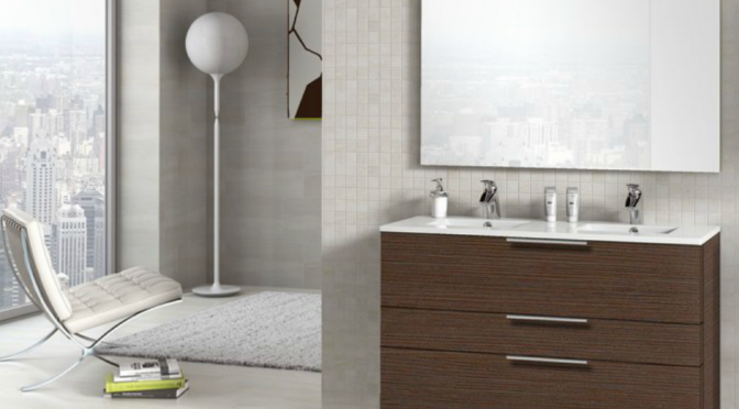 muebles de cuarto de baño en madera
