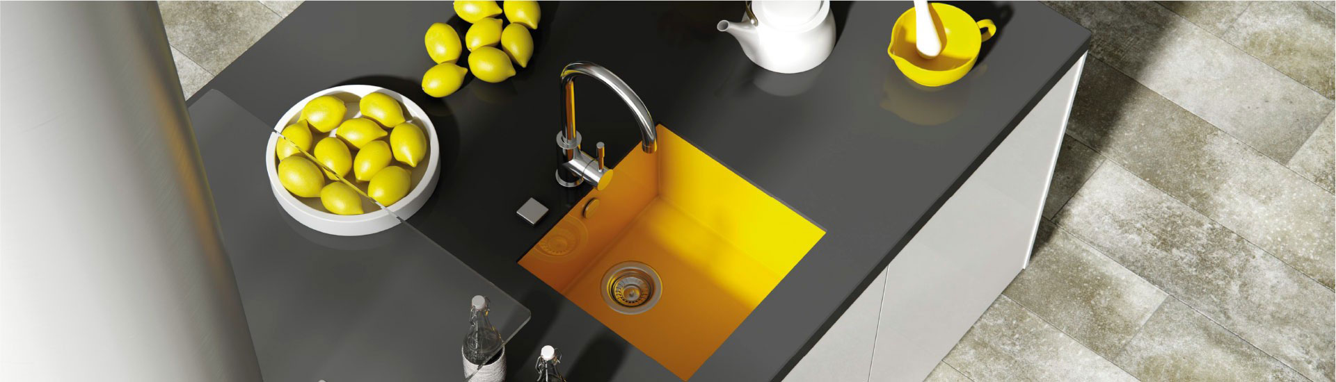 fregaderos sintéticos para cocina de color amarillo